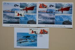 Chili 2001 FDC + 2 Cartes Maximum Antartica Chilena Phoque Foca Pestrel Base Antarctique Chile - Research Programs