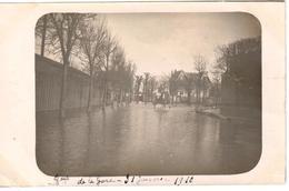 Poissy Carte Photo - Inondation 1910 - Boulevard De La Gare - Janvier 1910 - Poissy