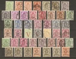 Belgique 1935/49 - Petit Sceau De L'état - Petit Lot De 44° - 29 Différents - Avec Surcharges - Préoblitérés - Nuances - Timbres