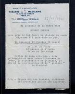 FRANCE - Lettre Du THEATRE De La MADELEINE Du 23/12/1941 Avec 1f Maréchal PETAIN - Vieux Papiers
