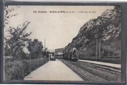 Carte Postale 35. Pléchatel St-Malo-de-Phily  Arrivée D'un Train Vapeur En Gare  Beau Plan - Other Municipalities