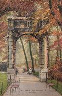 Cp , 75 , PARIS , Parc Monceau, Le Portique - Parks, Gardens