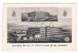 CPA : NAMUR - JAMBES Société Belge De Porcelaine, Sté Ame , Usine Fermée En 1951, Deux Vues - Namur
