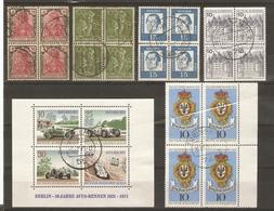 Allemagne - Petit Lot De 14 Blocs De 4°- Reich - Bund - Berlin - 2 Scans - Timbres
