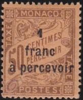 Monaco   .    Yvert     .   Taxe  17     .      *   .   Neuf  Avec  Charniere   .   /   .   Mint-hinged - Portomarken