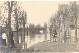 Poissy Carte Photo - Inondation 1910 -30 Janvier 1910 - Poissy