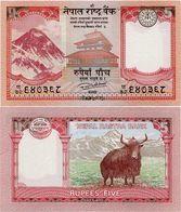NEPAL       5 Rupees       P-76       2017 / BS 2073      UNC  [ Sign. 20 ] - Népal