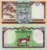 NEPAL       10 Rupees       P-77       2017 / BS 2073      UNC  [ Sign. 20 ] - Népal