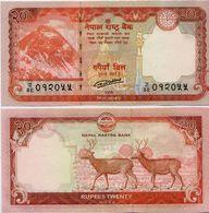 NEPAL       20 Rupees       P-78       2016 / BS 2072      UNC  [ Sign. 20 ] - Népal