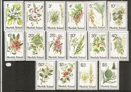 Les Fleurs Et Végétation De L'ÎLE NORFOLK , Série Complète, Côte 35,00 Euro - Ile Norfolk