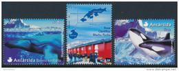 """PERU 2004 Antarctica/Antartida, Scientific Base """"Machu Picchu"""" And  Antarctic Whales Set Of 3v**SCARCE - Basi Scientifiche"""