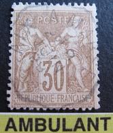 "R1749/336 - SAGE TYPE II N°80 - Cachet AMBULANT "" AIX à MARSEILLE "" 8 JUIN  1899 - 1876-1898 Sage (Type II)"