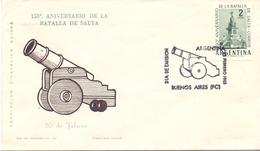ARGENTINA BUENOS AIRES BATALLA DE SALTA  FDC 1963  COVER (NOV180003) - FDC
