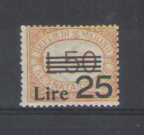 SAN MARINO 1943 SEGNATASSE  SOP.TO ** MNH - Portomarken