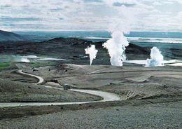 1 AK Island * Das Solfatarengebiet Am Namafjall - Im Hintergrund Der See Mývatn * - Iceland