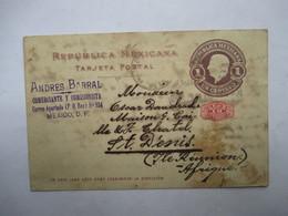 MEXIQUE   ( VERS LA  REUNION  ) -  ENTIER POSTAL   -  PRECURSEUR DE 1900               TTB - Mexique