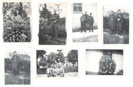7 Photos Soldats, Militaires, Dont Stalag II B - Guerre, Militaire
