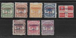 SAMOA - 1899 - YVERT N°28/35 * MH CHARNIERE TRES FORTE - COTE = 23.5 EUR. - Samoa