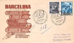 Marcofilia Spagna 1962 - Congreso Internacional De Editores - Barcelona - Timbres