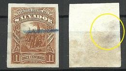 EL SALVADOR 1892 ESSAY Plate PROOF Michel 54 NB! Thin Place ! - El Salvador
