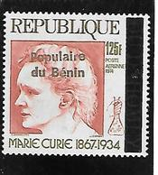 TIMBRE NEUF DU DAHOMEY SURCHARGE BENIN EN 1989 N° MICHEL 482 COTE 45 € - Benin – Dahomey (1960-...)