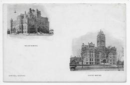 Topeka - High School And Court House - Undivided Back - Topeka