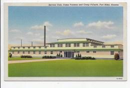 Service Club, Camp Funston And Camp Forsyth, Fort Riley, Kansas - Curteich - United States