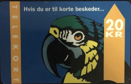 Paco \ DANIMARCA \ TDKD033 A-d \ Parrot With Text \ Usata - Denmark