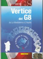 ITALIA  2009 - FOLDER ( PTT )  - Vertice G8 Da La Maddalena A L'Aquila - 1946-.. République