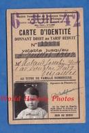 Carte Ancienne D'identité Donnant Droit Au Tarif Réduit - VERSAILLES - Tramway Electrique Chemin De Fer - 1942 - Titres De Transport