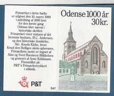 DANIMARCA - 1988: LIBRETTO NUOVO COMPOSTO DI 10 VALORI DA 3 KR. - MILLENARIO CITTA' DI ODENSE - IN OTTIME CONDIZIONI. - Libretti