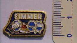 PIN'S - ESPACE - SIMMER (CHAMBRE THERMIQUE) - SOCIETE INTESPACE (MOYENS D'ESSAIS SPATIAUX) - Espace