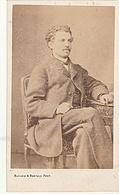 PHOTO CDV 19 EME HOMME CHIC MODE MOUSTACHE   Cabinet BAYARD BERTALL  A PARIS - Anciennes (Av. 1900)