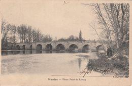 Cp , 78 , MANTES , Vieux Pont De Limay - Mantes La Jolie
