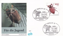 Germany FDC 1993 Für Die Jugend - Insects (DD24-16) - FDC: Covers