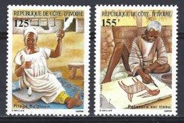 Cote D'Ivoire  Yv 739/40 Artisanat Rural ** Mnh - Côte D'Ivoire (1960-...)
