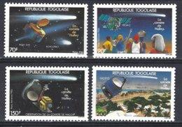 Republique Togolaise  Yv Poste 1192+PA 589/91, Passage De La Comète De Halley  ** Mnh - Astrologie