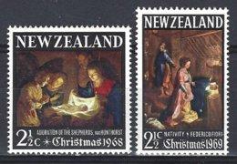 New Zealand  Yv  475 + 499 Christmas- Noël 1968-1969, Tableaux ** Mnh - Nouvelle-Zélande