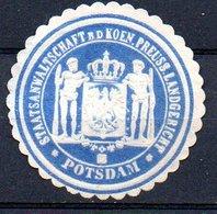 SMALL LETTERS Staatsanwaltschaft Bei Der Kön. Preuss.Landgericht Potsdam (mint No Gum)(Cpa4-120a) - Preussen