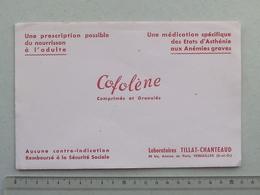 BUVARD Ancien COFOLENE Comprimé Et Granulé: MEDICAL Laboratoires TILLAT-CHANTEAUD à VERSAILLES - Biscottes