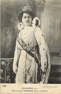 - Paris -ref-B947-  Mi Carême 1912 - Melle Paradis Reine Des Reines -verso Pub Chaussures Incroyable - Montluçon Allier - Francia