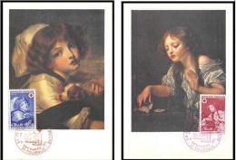 France Cartes Maximum  N°1700/1701 Croix Rouge (red Cross) 1971 Tournus - Cartes-Maximum