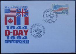 O71 Cachet Temporaire Ouistreham 14 Calvados 50 Anniversaire Du Débarquement Commando 4 6 Juin 1994 - Marcophilie (Lettres)