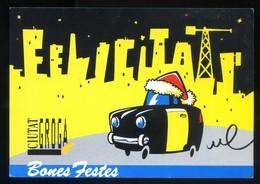 Barcelona. *Ciutat Groga* Meds: 104 X 150 Mms. Dorso En Blanco. - Navidad