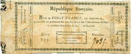 BON AU PORTEUR DE 20 FRANCS14 MARS 1800 - Assignats & Mandats Territoriaux