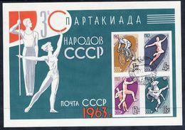 SOVIET UNION 1963 People's Spartakiad Block Used.  Michel Block 32 - Blocs & Feuillets