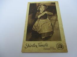 Petite Carte Publicitaire/Cinéma/ 20 Th Century Fox/ FOSSETTES/ Shirley TEMPLE/1936   CIN83 - Advertising