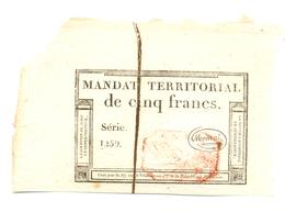 MANDAT TERRITORIAL DE 5 FRANCS 18 MARS 1796 - Assignats & Mandats Territoriaux