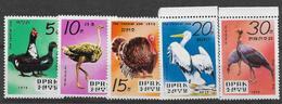 Corée Du Nord, Neufs Sans Charniére,  Oiseaux Du Zoo Central De Pyongyang,  MINT NEVER HINGED - Corée Du Nord
