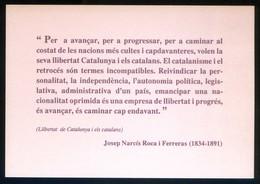Catalunya. *Centenari De La Mort De Josep Narcís Roca I Ferreras...* Nueva. - Eventos